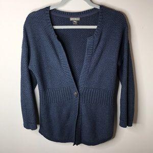 Eddie Bauer Size S Navy Blue Cardigan